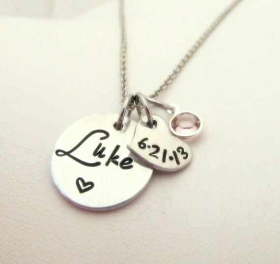 Hey, I found this really awesome Etsy listing at http://www.etsy.com/listing/157670499/personalized-hand-stamped-new-mom