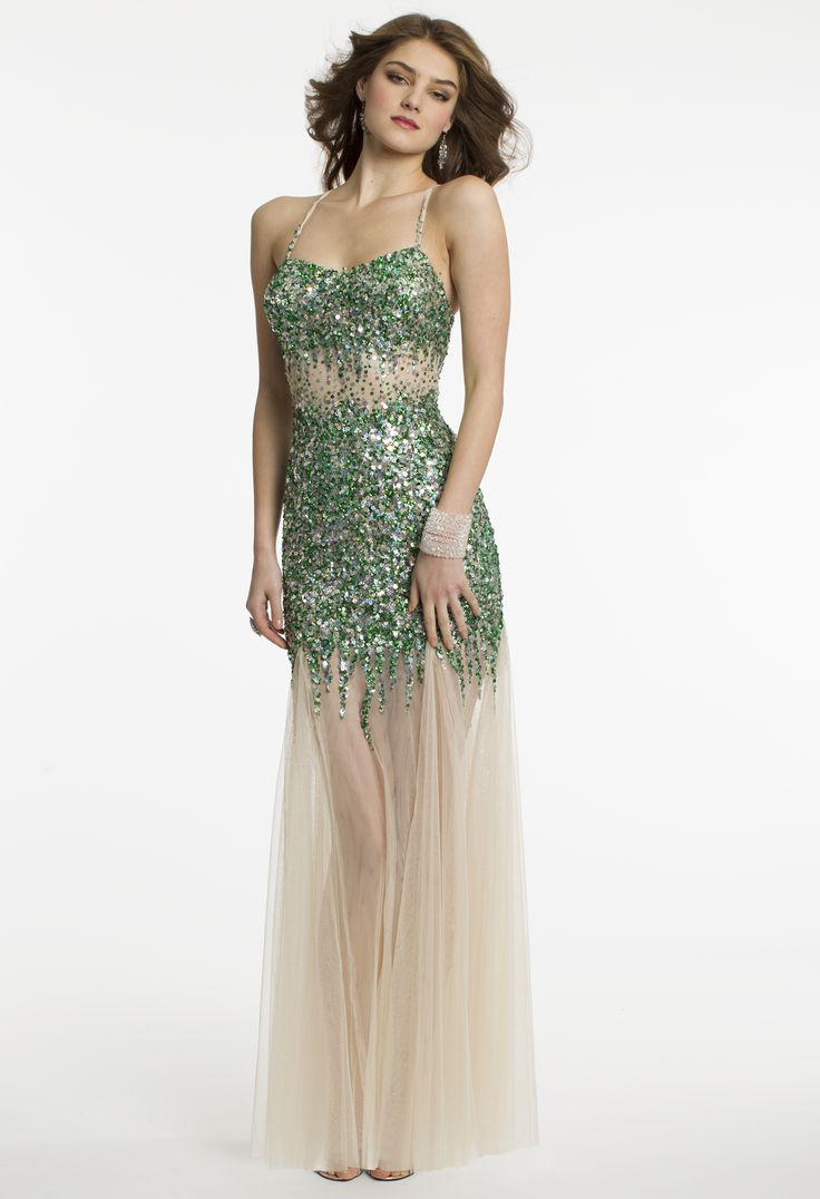 Illusion Sequin Prom Dress by Camille La Vie