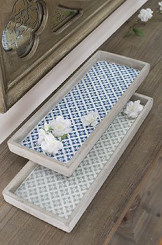 NEW in - Inspired by Moroccan and Middle Eastern design, our square shaped concrete tile serving trays are spectacular. They can be displayed upright against walls or on stands, or used practically to serve snacks and drinks. A beautifully designed and coloured set.