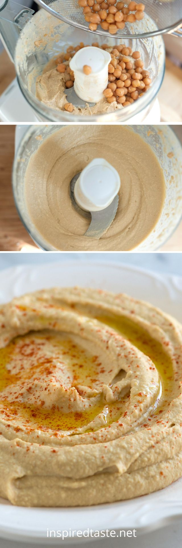 Better than store-bought hummus recipe. See the full recipe with video on inspiredtaste.net