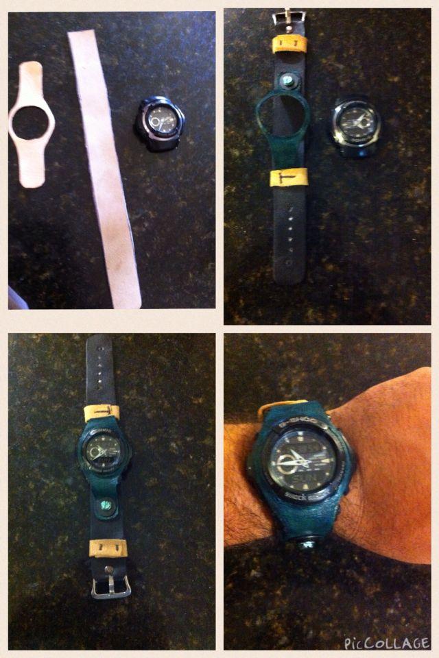 Reemplazo de correas de reloj  por unas de cuero... #leather  Hecho por mi