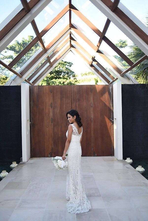 G & V wedding  Custom made wedding dress with glorious pearl beaded applique.