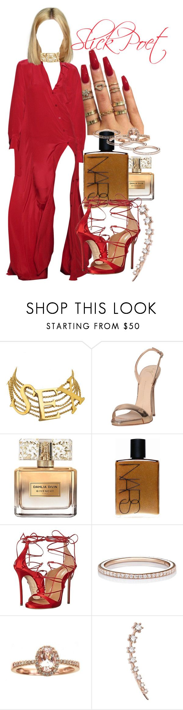 """""""Red October"""" by slickpoet ❤ liked on Polyvore featuring Dolce&Gabbana, Giuseppe Zanotti, Givenchy, NARS Cosmetics, Dsquared2, Raphaele Canot, Anika and August and Sara Weinstock"""