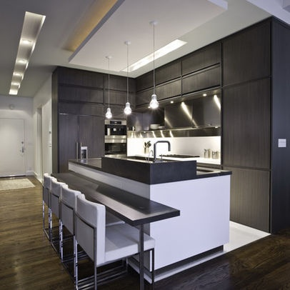 Dark kitchen. New York Home Cove Lighting Design, Pictures, Remodel, Decor and Ideas