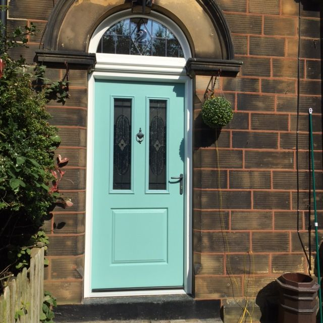 A truly magnificent composite front door installed by one of our preferred installers. We love the vibrant Turquoise colour! Get a quote today: http://endurancedoors.co.uk/authorised-retailers/