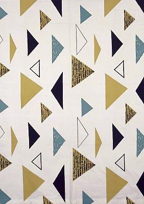 Lucienne Day fabric - Isosceles (1955)