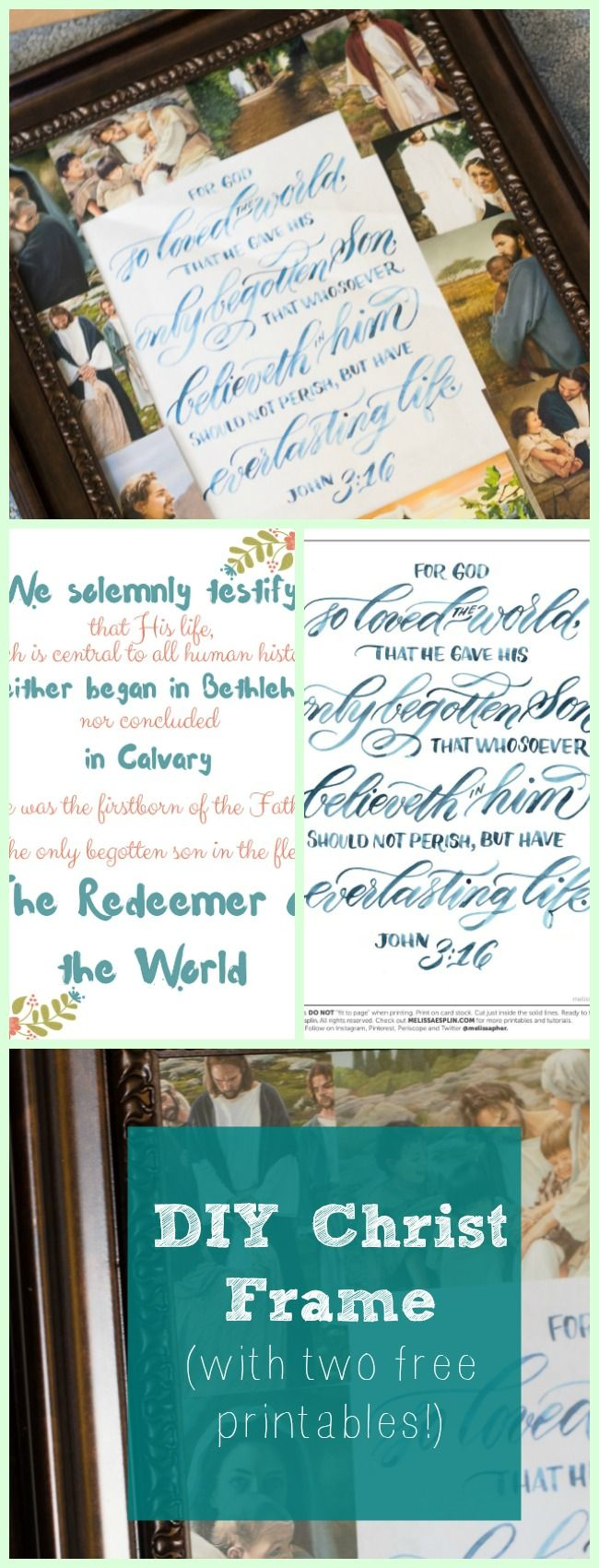 DIY Christ frame with two Christ-centered printables. Perfect for Easter