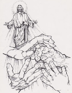 Another pen and ink sketch used on the cover of a church bulletin.