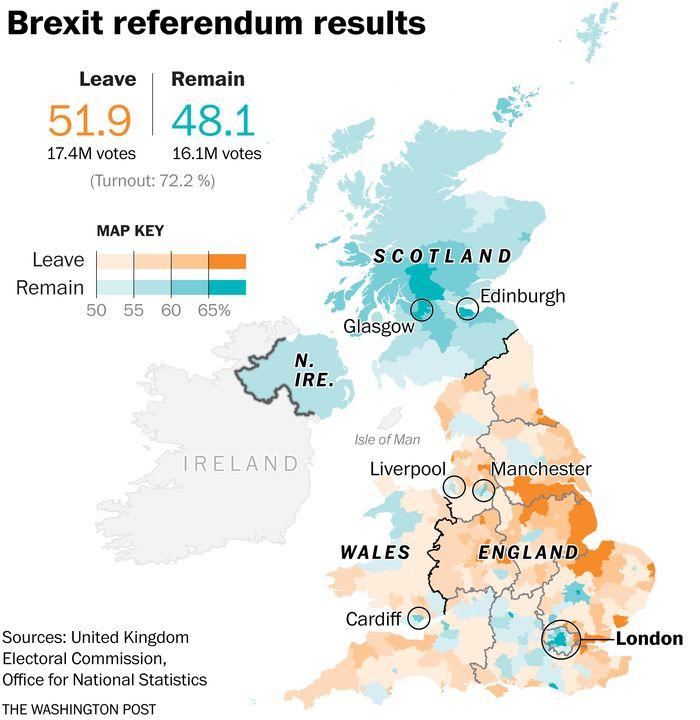 Brexit Referendum Results June 24 2016