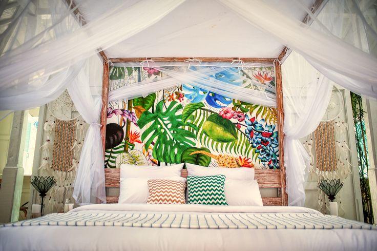 Love the back of bed hand painted by Kirana Putri Kusnadi