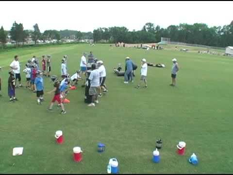 Youth Football Practice - 1 Step Tackling - Form Tackling