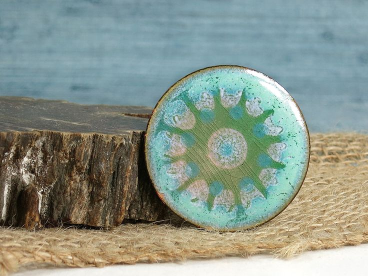 Gjedde Denmark Brooch - Henning Gjedde Enameled Copper Pin - Atomic Starburst Design Art Brooch - Modernist Danish Enamel - Scandinavian by EightMileVintage on Etsy