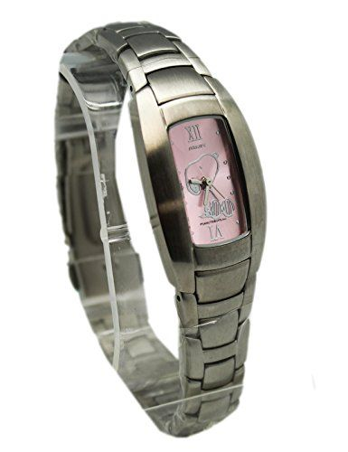 Peanuts Snoopy Watch With a Pink Colored Rectagular Face (25mm) @ niftywarehouse.com #NiftyWarehouse #Peanuts #CharlieBrown #Comics #Gifts #Products