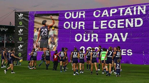 MATTHEW PAVLICH - 300th GAME RD 9 2014 -  WELL DONE PAV. GO DOCKERS !!!
