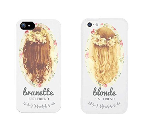 Cute BFF Phone Cases - Brunette and Blonde Best Friends Phone Covers ...