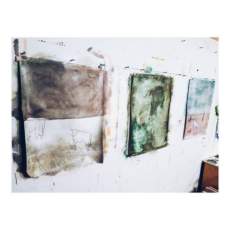creatures. • • • wip painting drawing art studio