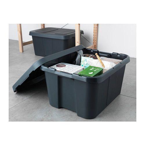 """KLÄMTARE Box with lid, indoor/outdoor - 22 ¾x17 ¾x11 ¾ """" - IKEA"""