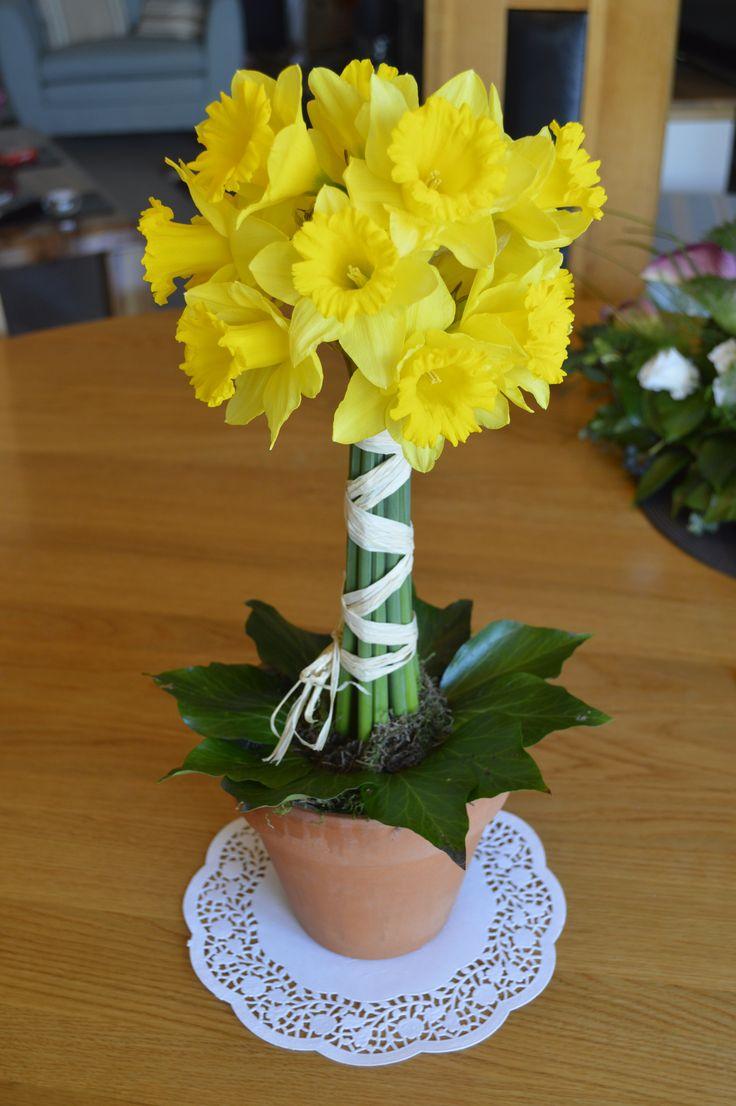 Daffodil Tree Topiary Design Spring Wedding Table