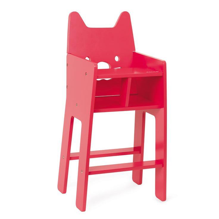 Une chaise haute pour faire manger sa poupée. L'adorable frimousse du chaton fera craquer à coup sûr toutes les petites filles ! La chaise haute est parfaite pour amuser à donner les repas à son poupon ou à sa peluche préférée.