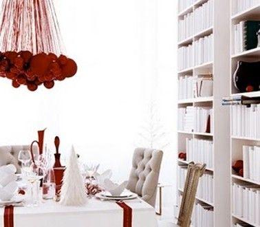 9 best images about d co table rouge no l on pinterest. Black Bedroom Furniture Sets. Home Design Ideas