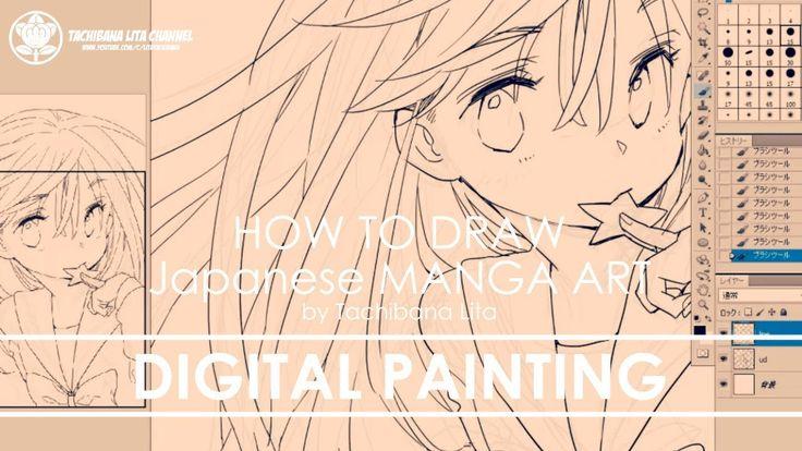 ✔ Digital Painting St.1 Inking   How to draw Manga Art 2018.01.14