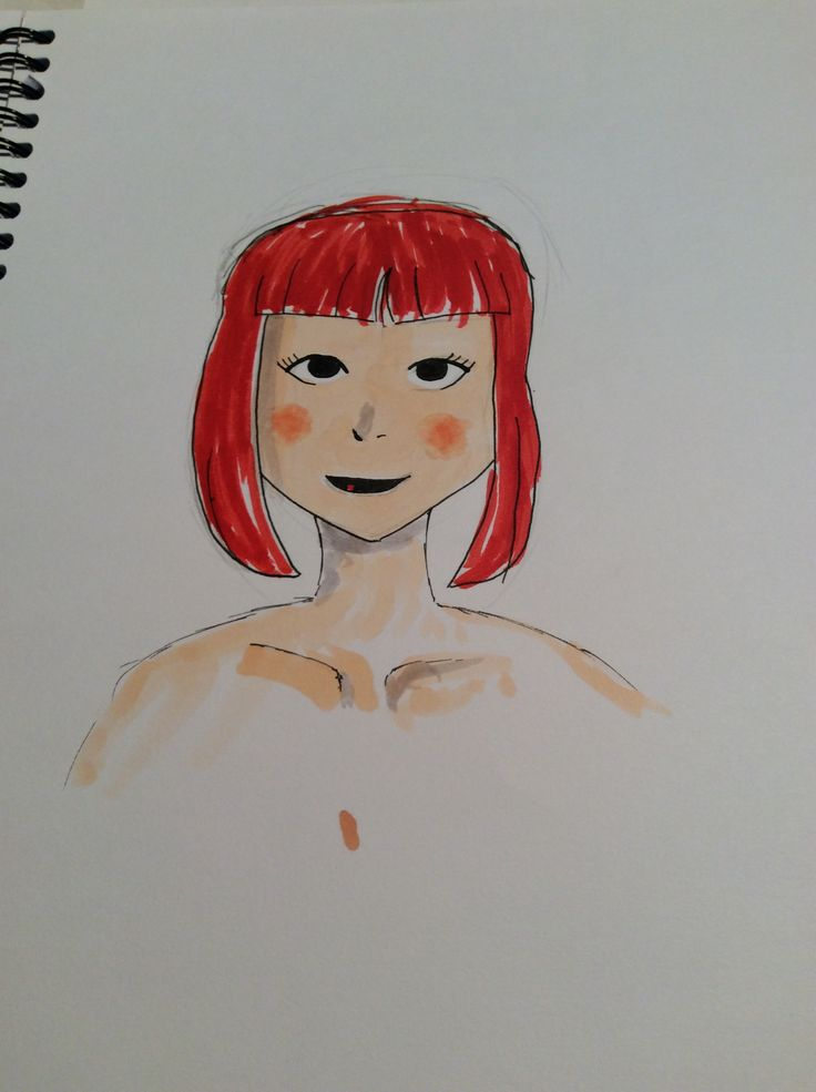 Practiced blending with copic skin tones