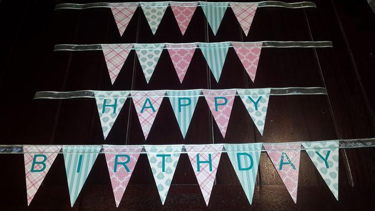 Happy Birthday Bunting. Handmade by Sandi G muzzys.creations@gmail.com