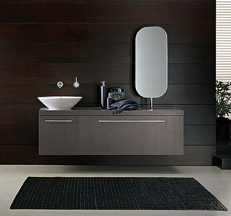 Chocolate modern bath for the home pinterest wood bathroom dining room office and Www wooden furniture com