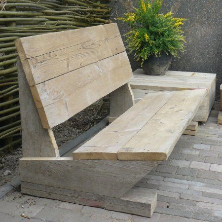 reclaimed timber garden bench