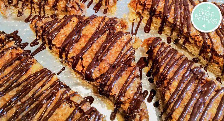Leckeres Rezept für Nussecken mit Aprikosenmarmelade - denn Nussecken backen ist nicht nur was für Fans von Guildo Horn...
