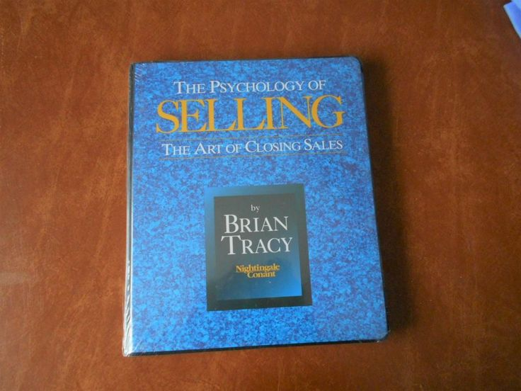 Psychology of Selling, The Art of Closing Sales Brian Tracy Cassettes New/Sealed