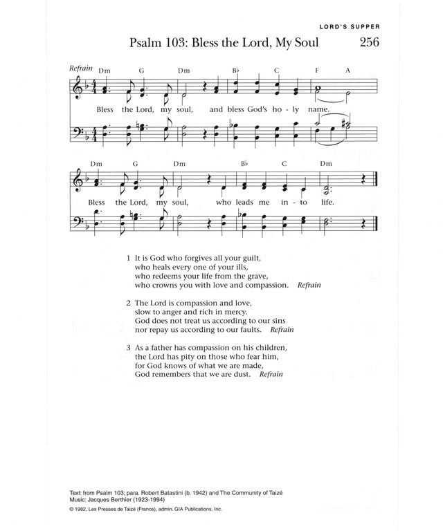 Lyric lyrics to bless the lord oh my soul : 21 best Taize~ images on Pinterest | Worship, Choir and Eid prayer