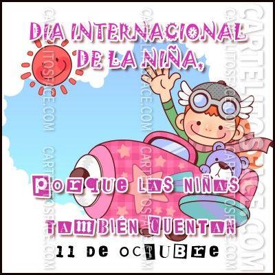 Día internacional de la niña   Celebrations   Pinterest
