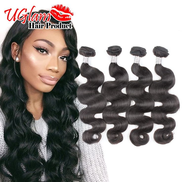Uglam Hair Brazilian Body Wave MS Lula Hair 4 bundles Unprocessed Brazilian Hair Bundles Natural Color Hold Curl 7A Best Quality