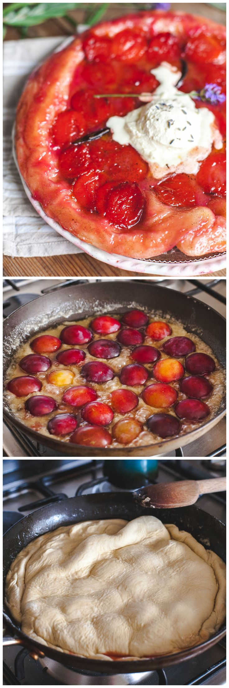 Plum Tarte Tatin with Lavender Cream | Recipe | Pastries, Puff ...