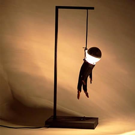 15 Strangest Lamps - Oddee.com (drop light, cool lamps)