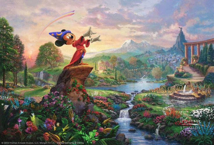 thomas+kinkade+disney | Thomas Kinkade | Disney Magic!  I haven't seen this one!  I want!