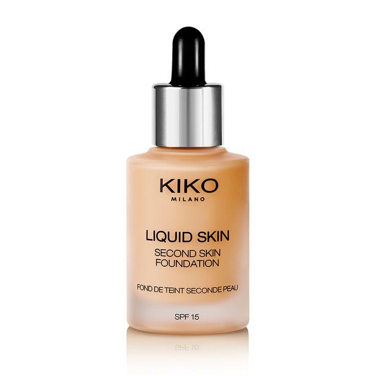 Base de maquillaje Líquida - Liquid Skin Second Skin Foundation - KIKO Milano