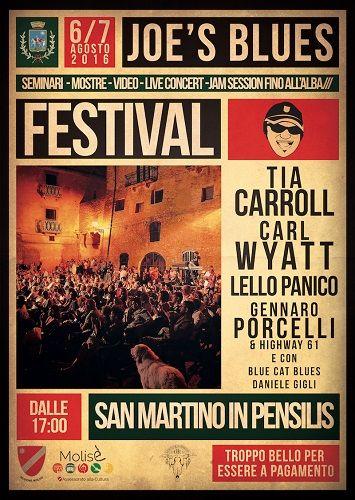 Joes Blues Festival 2016 a San Martino in Pensilis il programma