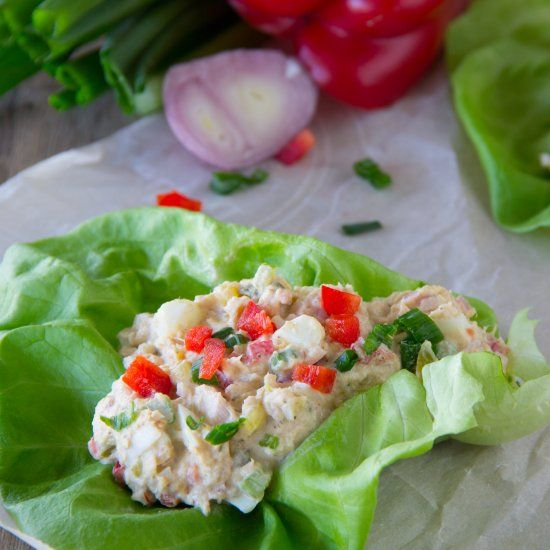 This Wild Tuna Salad with eggs has a secret ingredient and is the perfect solution for those times without power.