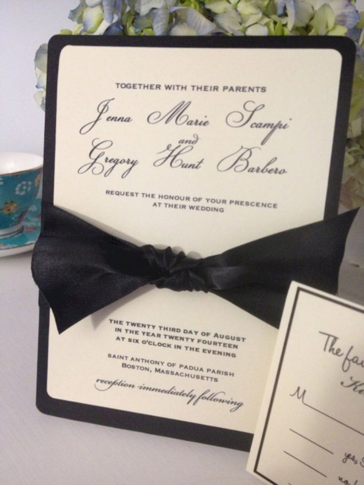 tie ribbon wedding invitation%0A    Simple and Elegant Winter Wedding Invitations Ideas