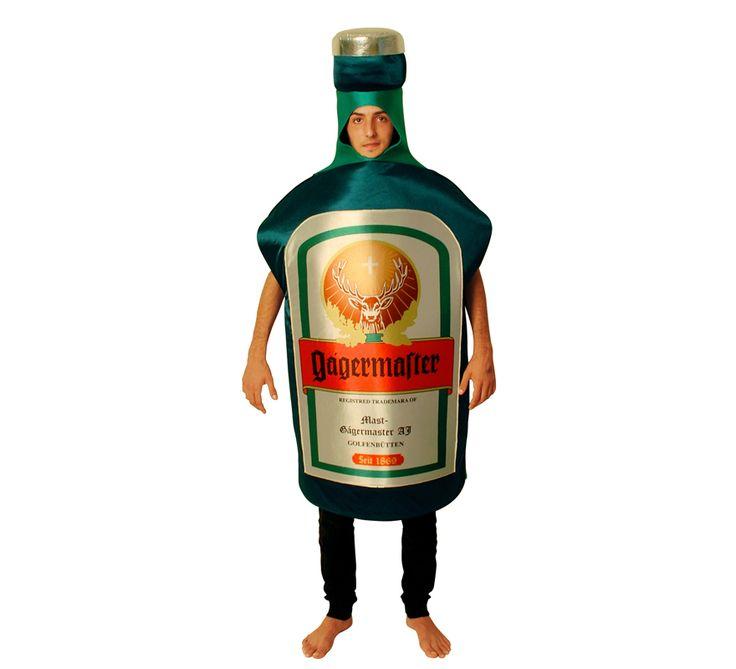 DisfracesMimo, disfraz de botella jager para adulto talla unica.Compra tu disfraz barato adulto para tu grupo. Este traje es ideal para tus fiestas temáticas de oktoberfest y de la cerveza. fabricacion nacional