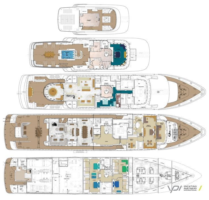 168 best all about super yachts images on pinterest big for Boat floor plans
