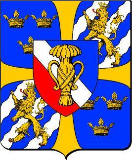 Vapensköld för kungliga ätten Vasa (från Gustav I – Kristina)