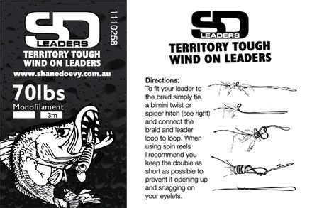 SD Wind-on Leader Heavy Mono (Wind-on) | SD Territory Tough Leaders | Import Tackle - Import Tackle | Online Fishing Tackle Store