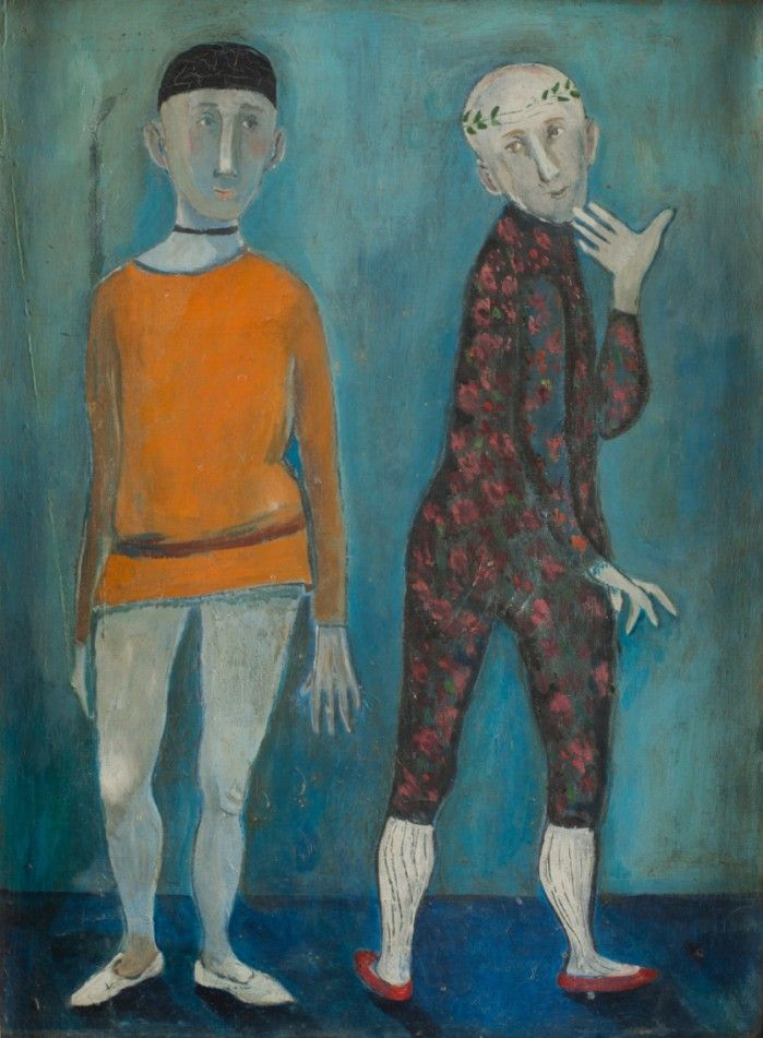 Margit Anna (1913-1991, Hungarian), 1963, Két figura (Two figures).