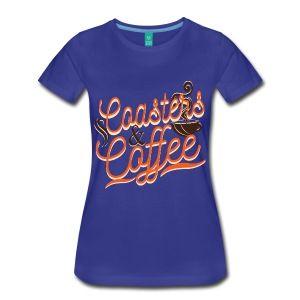 Coasters and Coffee - Women's Premium Theme Park T-Shirt