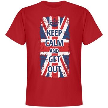Brexit Keep Calm UK Leaving EU | The Brits could keep calm no longer. They wanted to cooperate, but they couldn't see eye to eye with their fellow countries in the European Union. Support their decision with this tee.
