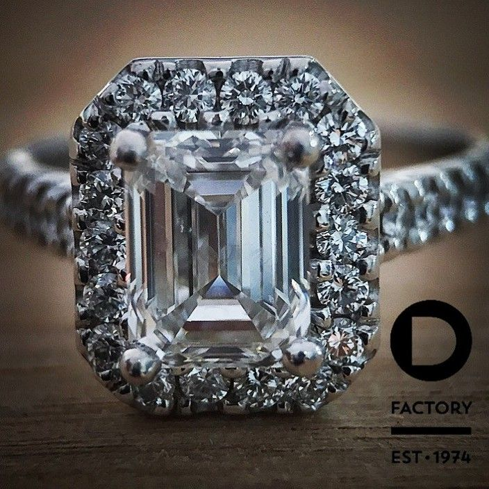 A custom made, emerald cut, diamond engagement ring we handmade for a customer of ours!!! - The Opal and Diamond Factory, JewelleryWatchRetailers, Adelaide, SA, 5000 - True Local