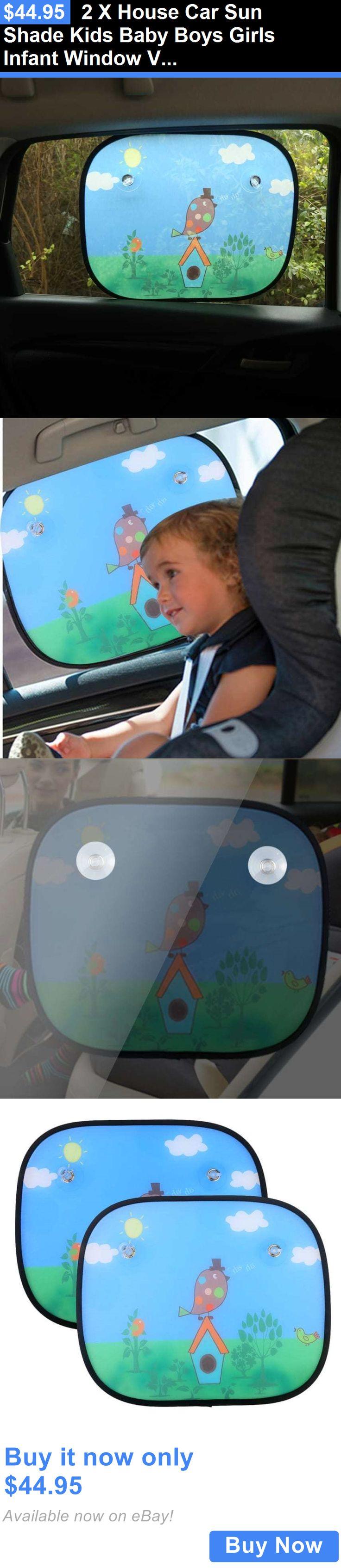 baby kid stuff: 2 X House Car Sun Shade Kids Baby Boys Girls Infant Window Visor Sunshade BUY IT NOW ONLY: $44.95